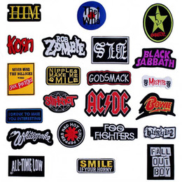 $enCountryForm.capitalKeyWord Australia - Pop Music Iron On Patches Badges for Sew Seam Tailoring Clothes Suits of Coat Jacket Trousers T-shirt Pants Ornament Apparel