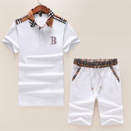 Polo Sportswear Australia - 2019 new luxury men's sportswear T-shirt POLO+ sport pantsuit short sleeve M-3XL #8031
