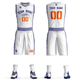 25bbcc38b29 Custom Mens Basketball Jersey Sets DIY Uniforms Kits Boys Sports Clothing  Breathable Customized College Team Basketball Jersseys