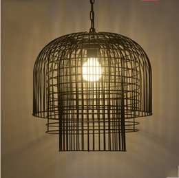 industrial cage pendant lights Australia - retro iron cages pendant lights loft industrial lantern dining room bedroom living creative pendant lamps LLFA
