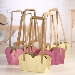 $enCountryForm.capitalKeyWord Australia - Creative Waterproof Flower Packing Bags Kraft Paper Bonsai Package Plant Pot Carrier With Paper Rope QW9600