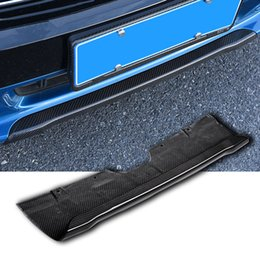 $enCountryForm.capitalKeyWord Australia - 3000K Real Carbon Fiber Car Front Rear Bumper Lips Trim Protector Guard for Mini Cooper New Countryman F60 2017 Exterior Styling