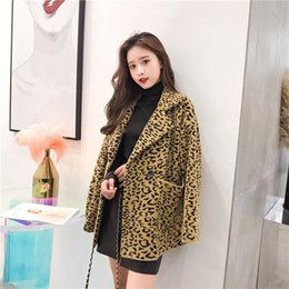 $enCountryForm.capitalKeyWord Australia - Autumn new Korean Leopard double-sided suit collar loose top cardigan woman winter coats 2019 fashion casual female coat B591
