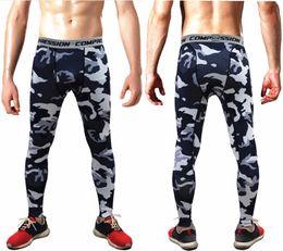 Flattering Clothes For Plus Size Australia - Compression Leggings For Men Sweat Pants Fitness Pants Man Skinny Trousers Camouflage Leggins Joggers Clothing Plus Size 3XL