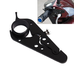 $enCountryForm.capitalKeyWord NZ - Universal Aluminum Motorcycle Adventure CruiseThrottle Clamp With Rubber Ring Handlebar Black Scooter Cruise Control Assist