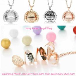 $enCountryForm.capitalKeyWord Australia - Long Necklace Women Men Jewelry Angel Wings Locket Expanding Photo Frame Memory Pendant Choker Chain Couple Gift Gold Vintage jewlery Boho