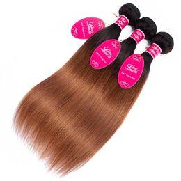 ombre long weave 2019 - Tb 30 Long hairs Ombre Human Hair Bulks Bundles Brazilian Hair Weave Bundles Straight Body Wave in stock FZP221 cheap om