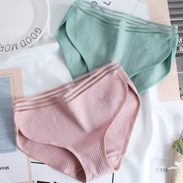 b1cbcb9900 Female Seamless Underwear Women s Cotton Briefs Sexy Girl Middle Waist Panties  Bamboo Fiber Women Lace Edge Breathable Briefs