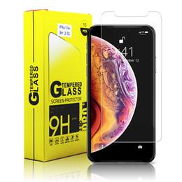 Para iphone x xr xs max 8 7 6 plus samsung nota 8 s8 lg k7 protetor de tela de vidro temperado protetores de tela filme venda por atacado