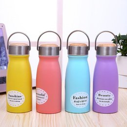 $enCountryForm.capitalKeyWord NZ - 304 Stainless Steel Kettle Double Layer 304 Water Bottle Stainless Steel Tumbler Drinkware Fashion 10 oz Milk Cup
