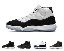 Shoe Xi Us13 UK - 11 Prom Night XI Cap and Gown 11s Gym Red PRM Heiress Midnight Navy women mens basketball shoes Bred Space Jam Sport sneakers
