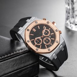 Orologio da polso sportivo di lusso da uomo di lusso prezzo all'ingrosso 45 millimetri orologio da polso al quarzo con orologio da polso maschile e orologio da polso al quarzo in Offerta
