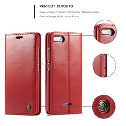 Chinese  Caseme003 Vintage Flip Case For Xiaomi 5 8 Leather Magnetic Flip Wallet Cover For Redmi 6 6A 6Pro Note6Rro Note3 Smart Case manufacturers