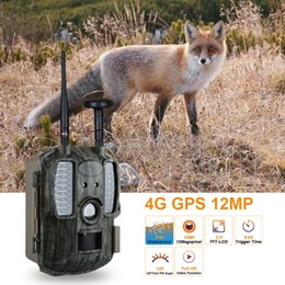 Trail gps online shopping - Newest G GPS Hunting Camera Infrared Night Vision Hunting Cameras Trail Wildlife Hunter Cam Scouting Chasse Photo Traps MMS GSM