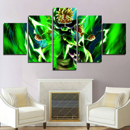 $enCountryForm.capitalKeyWord Australia - 5 Pieces Dragon Ball Super Broly Anime Saiyan Poster HD Canvas Print Painting Modern Wall Art For Living Room Home Decor(No Frame)
