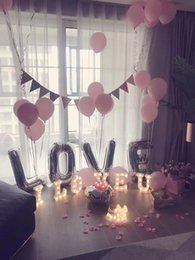 decorations anniversary NZ - LOVE Letter Balloon Set Marry Decorative Letters Aluminum Foil Balloons Birthday Party Balloon Anniversary Wedding Decoration Balloons