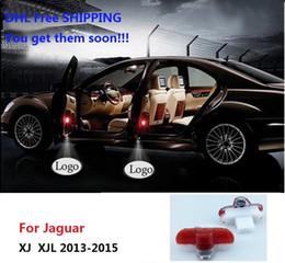 Car Lights Australia - DHL Free Shipping Car Door Courtesy Welcome Light Ghost Shadow Laser Projector Logo LED Lamp For Jaguar XJ XJL 2013-2015