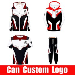 Wholesale tech clothes online – design Avengers Endgame Sweatshirt Advanced Tech Hoodie Cosplay Costumes end game tony stark Iron Man Hoodies suit clothes SH190918