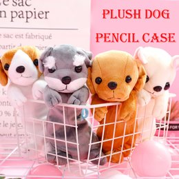 $enCountryForm.capitalKeyWord Australia - 2019 Cute Cartoon Dog Pencil Case Plush Animal Dog Cosmetic Bag Coin Purse School Stationery Pencilcase Kawaii Toy For Kids Children M322F