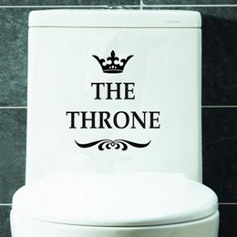Bathroom Funny Wall Stickers Australia - New Creative Vinyl THE THRONE Funny Interesting Toilet Wall Sticker Bathroom for Home Decor Decal Poster Background Stickers