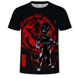 Dragonball Shirt Australia - High Qulity Dragonball Series T Shirts for Men Big Yards 3D Digital Printing Short Sleeve Breathable Crew Neck Top Tees S-5XL
