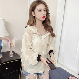 floral jacket wholesale NZ - Lace Floral Jacket 2019 Summer Short Blouse Outside Thin Section Cardigan Long Sleeve Sun Protection Clothing Wild Blouse Shirt