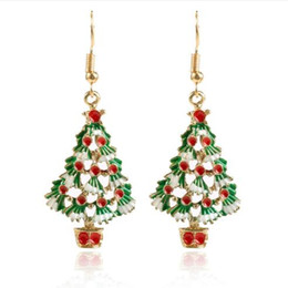 $enCountryForm.capitalKeyWord Australia - 2019 New Arrival European and American Style Drop-oil Christmas Tree Dangle Hook Earrings for Women E5984
