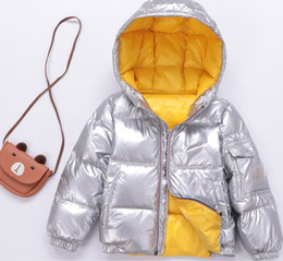 18 month old clothes online shopping - Soft Hooded Down Jacket For Kids Boys Girls Baby Silver Thick Luxury Children s Clothing Brief Winter Warm Coat cm years Old Y17