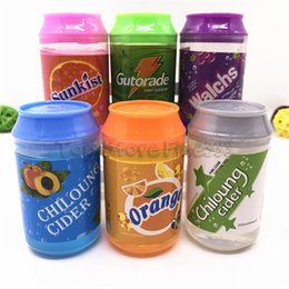 Crystal slime online shopping - DIY Slime Fruity Aroma Smell Great Flavor Clay Can canister color cans of Slime crystal mud DIY transparent jelly mud blowing bubbles