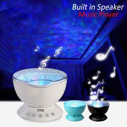 Wholesale 7Colors LED Night Light Starry Sky Remote Control Ocean Wave Projector with Mini Music Novelty baby lamp led night lamp for kids