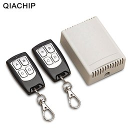 wireless rf transmitter receiver remote Australia - QIACHIP Universal Wireless Remote Control Switch DC 12V 4CH relay Receiver Module With 4 channel RF Remote 433 Mhz Transmitter