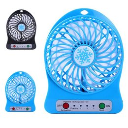pc cooling fan usb 2019 - Top Sell Rechargeable LED Light Fan Air Cooler Mini Desk USB 18650 Battery Rechargeable Fan With Retail Package for PC L
