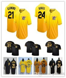$enCountryForm.capitalKeyWord Australia - New Pittsburgh Baseball Jersey 24 Barry Bonds 21 Roberto Clemente 100%Embroidery Pirates Jersey Men's Cooperstown Collection Legend Jer