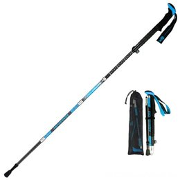 camping hiking telescope UK - Trekking Walking Stick Pole Alpenstock and Camping Camping & 5 Section AntiShock Telescope Trekking Walking Stick Pole Alpenstock and Campin
