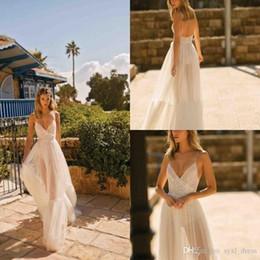 $enCountryForm.capitalKeyWord Australia - berta 2020 boho wedding dresses spaghetti straps lace appliques bridal gowns Country Floor Length A-Line Wedding Dress robes de soirée