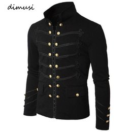 custom embroidered jackets NZ - DIMUSI Men's Vintage Coat Jacket Gothic Embroider Sequins Jackets performance Outfit Custom stage Party Coat Noble prince,TA302