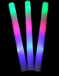 $enCountryForm.capitalKeyWord Australia - 48CM glow stick Multicolor LED Flashing Light Effect Sticks Color Changing Foam Baton Strobe for Party Festivals Raves Birthdays ChildrenToy