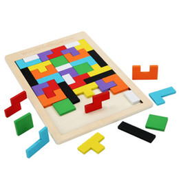 games educational kids free UK - Colorful Wooden Toys Tangram Brain Teaser Puzzle Toys Tetris Game Preschool Magination Intellectual Educational Toys Kid Gift Free shipping