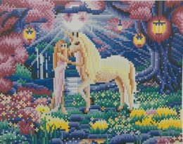 "horses girl painting Australia - New LED Light Full Round Drill 5D DIY Diamond Painting ""Horse and Girl"" 3D Embroidery Cross Stitch Mosaic Decor Gift 30x40cm"