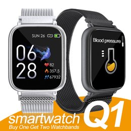 PoPular english online shopping - 2019 New Popular Smart Fitness Bracelet Q1 Smart Watch Heart Rate Smart Watchband Blood Pressure Wristband PK ID115 PLUS PLUS in Box