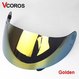 motorcycle helmet face shields Australia - Face shield for AGV K4 motorcycle helmet sun visor gold tinted transparent rainbow black silver plated Multicolor helmet lens