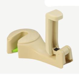 $enCountryForm.capitalKeyWord Australia - Universal Car Back Seat Phone Holder Stand Headrest Hanger Hook Clip Beige Black Yellow 1x Car Seat Headrest Hook