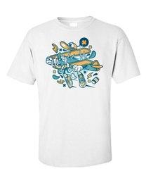 Airplane Art Australia - Aeroplane Cartoon T-Shirt Airplane Comic Rad Kids Pop Art Funny Humor Men Tee