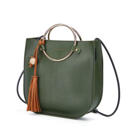 Chinese  DUSUN Women Ring Handle Tassel Handbag Woman Bread Shape Tote Women Fashion Shoulder Bag Brand Design Ladies Messenger Bag manufacturers