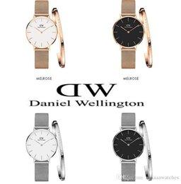 Bronze jewelry Box online shopping - Brand Daniel Wellington watch dw Luxury Women Quartz Watch MM Watches and Jewelry Bracelets Fashion Lady Elegant Clock with original box