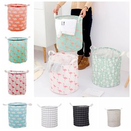$enCountryForm.capitalKeyWord Australia - Foldable Laundry Storage Basket 9 Styles Flamingo Bear Printed Clothes Storage Bag Kids Toys Organizer Home Sundries Storage Barrel OOA6832