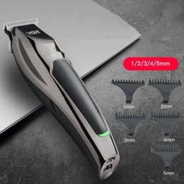 VGR-030 Professional Waterproof Hair Trimmer Display Men's Hair Clipper Grooming Low Noise Clipper Titanium Ceramic Blade Adult Razo EEA1533 on Sale