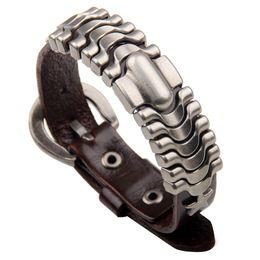 $enCountryForm.capitalKeyWord Australia - New Men's Exotic Bracelets Cross-border Supply Alloy Simple Atmosphere Bracelets Leather Accessories Fashion Personality Trend