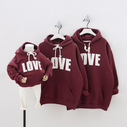family matching hoodies NZ - Family Matching Outfits Mother Daughter Clothes Love Print Hoodies Sweatshirts mommy and me dress mom mum baby girl clothes