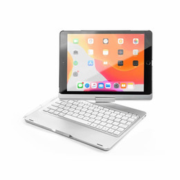 aluminum wireless bluetooth ipad keyboard NZ - 360 Rotation Bluetooth Backlight ABS Keyboard For iPad10.2 Wireless Aluminum Case For iPad 10.2 Alloy Stand Smart Cover With Stylus Pen Slot